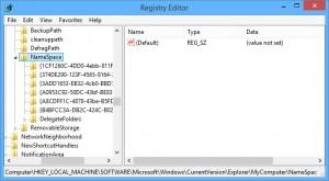 Windows 8.1: Register Namespace