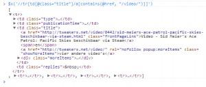 XPath Video Tweakers.net